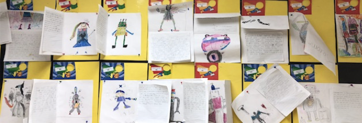 BeeBots Presentations created by students on a poster board