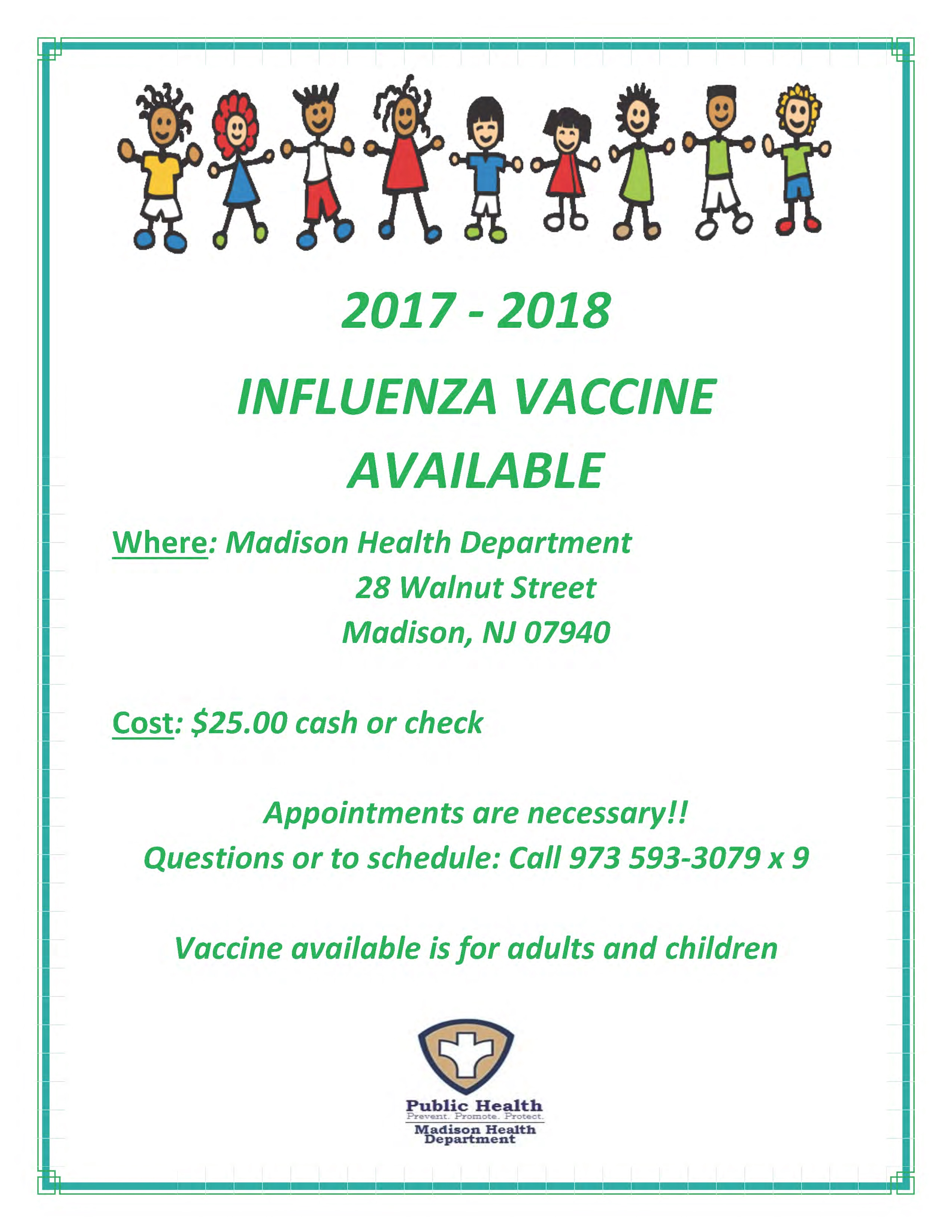 FLU Vaccine is Available