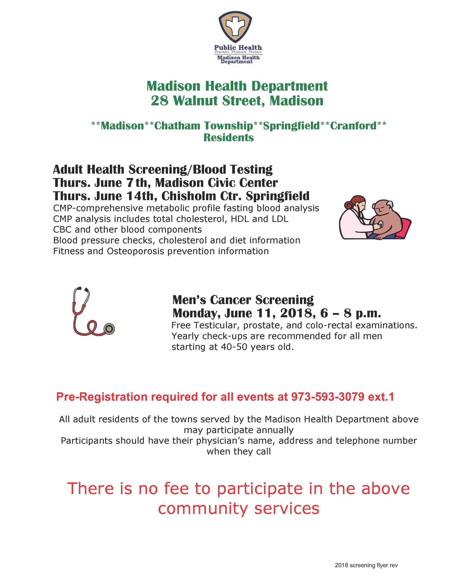 Free Adult Screening & Blood Testing - Madison Health Department ...