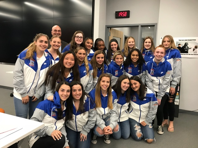 Dayton Girls' Basketball Team Receives Division Championship Jackets at the June 4th Board Meeting