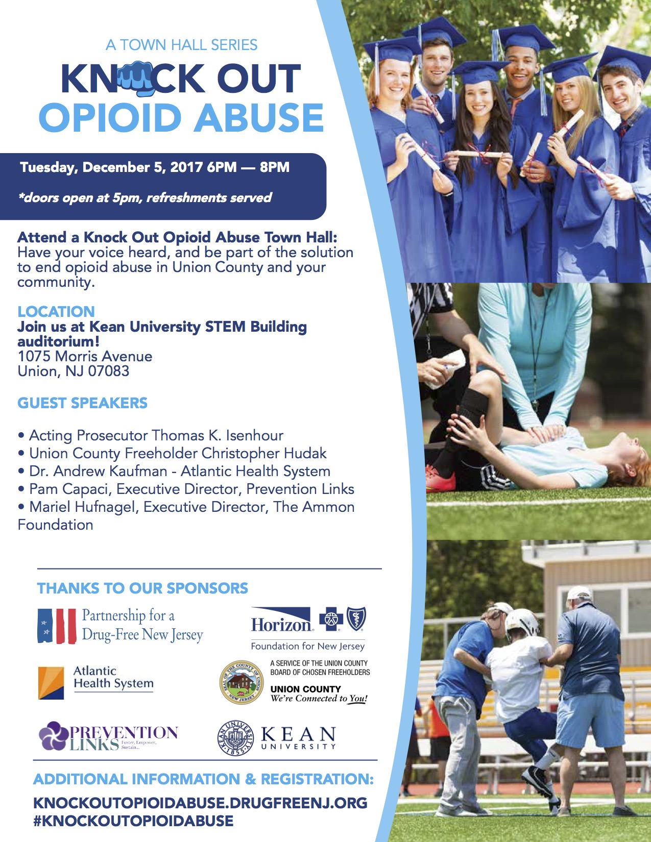 Knock Out Opiod Abuse Flyer